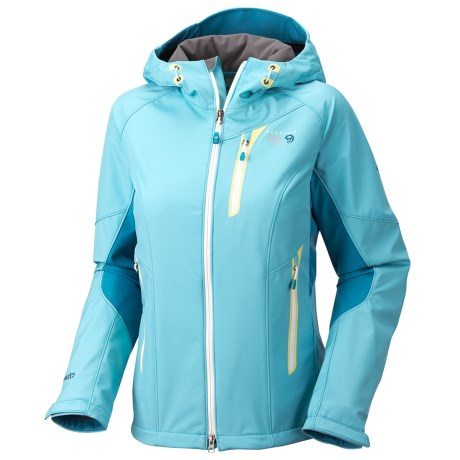 Mountain Hardwear Embolden Soft Shell Jacket (For Women) in Dragonfly/Oxide Blue