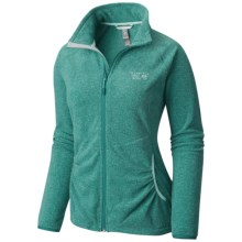 Mountain Hardwear Escalon Heather Fleece Jacket (For Women) in Heather Teal Green - Closeouts