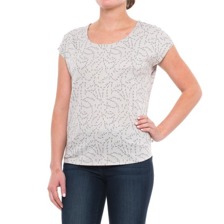 Mountain Hardwear Everyday Perfect Printed Shirt - UPF 25, Short Sleeve (For Women) in Grey Ice