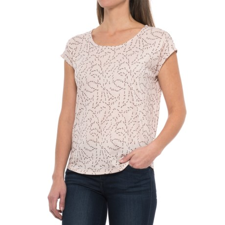 Mountain Hardwear Everyday Perfect Printed Shirt - UPF 25, Short Sleeve (For Women) in Suave Mauve