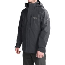 Mountain Hardwear Excursion Trifecta Dry.Q® Core Jacket - Waterproof, Insulated, 3-in-1 (For Men) in Black/Shark - Closeouts