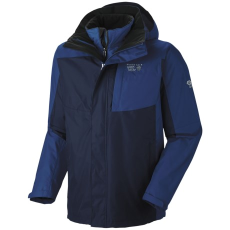 Mountain Hardwear Excursion Trifecta Dry.Q Core Jacket - Waterproof, Insulated, 3-in-1 (For Men) in Red Velvet