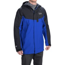 Mountain Hardwear Exposure Dry.Q® Elite Parka - Waterproof (For Men) in Blue Chip/Black - Closeouts