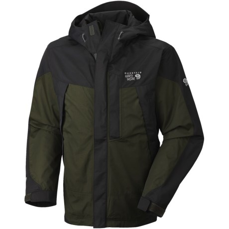 Mountain Hardwear Exposure Dry.Q Elite Parka - Waterproof (For Men) in Black/Black