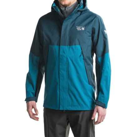 Mountain Hardwear Exposure Dry.Q® Elite Parka - Waterproof (For Men) in Phoenix Blue/Hardwear Navy - Closeouts