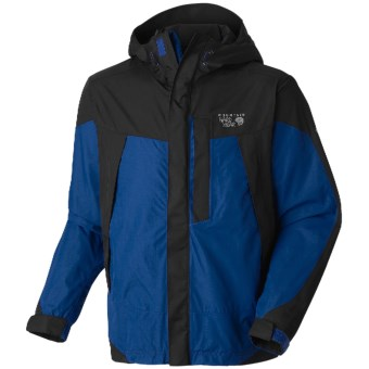 Mountain Hardwear Exposure Dry.Q Elite Parka - Waterproof (For Men) in Royal/Black