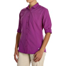 Mountain Hardwear Fairfax Shirt - Roll-Up Long Sleeve (For Women) in Berry Jam - Closeouts