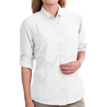 Mountain Hardwear Fairfax Shirt - Roll-Up Long Sleeve (For Women) in White - Closeouts