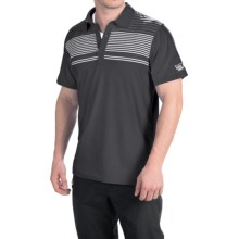 Mountain Hardwear Fairland Stripe Polo Shirt - Short Sleeve (For Men) in Shark - Closeouts
