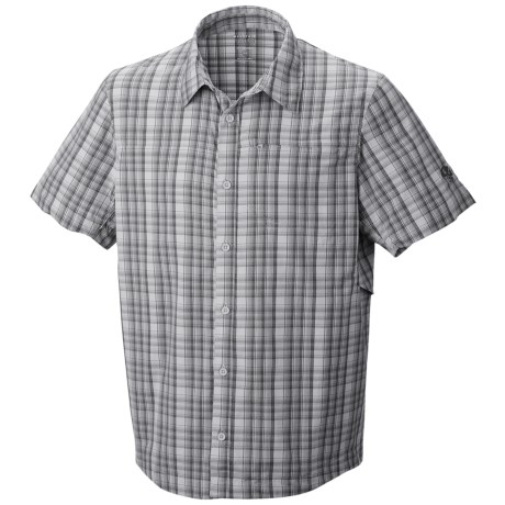 Mountain Hardwear Fallon Shirt - UPF 50, Short Sleeve (For Men) in Grey Ice