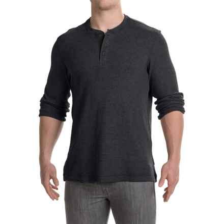 Mountain Hardwear Fallon Thermal Henley Shirt - Long Sleeve (For Men) in Black - Closeouts
