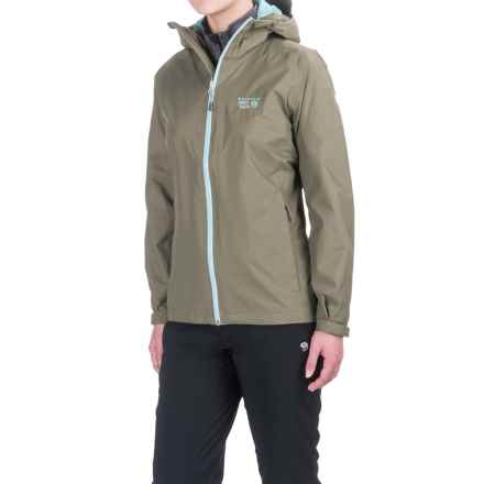 Mountain Hardwear Finder Dry.Q® Core Jacket - Waterproof (For Women) in Stone Green - Closeouts