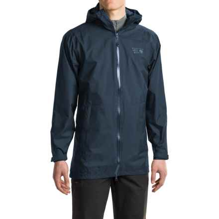 Mountain Hardwear Finder Dry.Q® Hooded Jacket - Waterproof (For Men) in Hardwear Navy - Closeouts