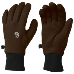 Mountain Hardwear Fleece Gloves - Polartec® Power Stretch® (For Men) in Jungle