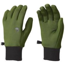 Mountain Hardwear Fleece Gloves - Polartec® Power Stretch® (For Men) in Jungle - Closeouts
