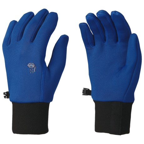 Mountain Hardwear Fleece Gloves - Polartec® Power Stretch® (For Men) in Jungle