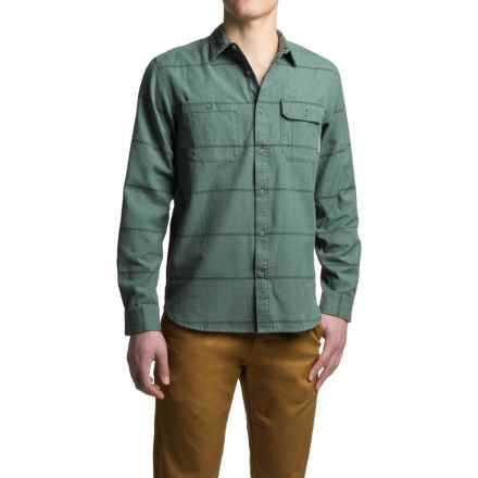 Mountain Hardwear Frequenter Stripe Shirt - Long Sleeve (For Men) in Forest - Closeouts