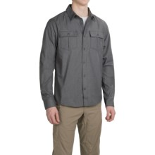 Mountain Hardwear Frequentor Flannel Shirt - UPF 50, Long Sleeve (For Men) in Shark - Closeouts
