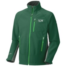 Mountain Hardwear G50 Jacket - Soft Shell (For Men) in Pine Tree/Shark - Closeouts