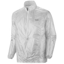 Mountain Hardwear Ghost Whisperer Anorak Jacket - Super Ultra Lightweight (For Men) in Sea Salt - Closeouts