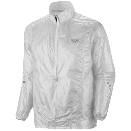 Mountain Hardwear Ghost Whisperer Anorak Jacket - Super Ultra Lightweight (For Men) in Sea Salt