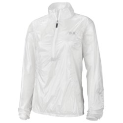 Mountain Hardwear Ghost Whisperer Anorak Jacket - Super Ultra Lightweight (For Women) in Sea Salt
