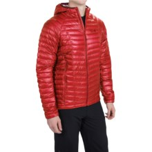 Mountain Hardwear Ghost Whisperer Q.Shield® Down Hooded Jacket - 800 Fill Power (For Men) in Cherrybomb - Closeouts