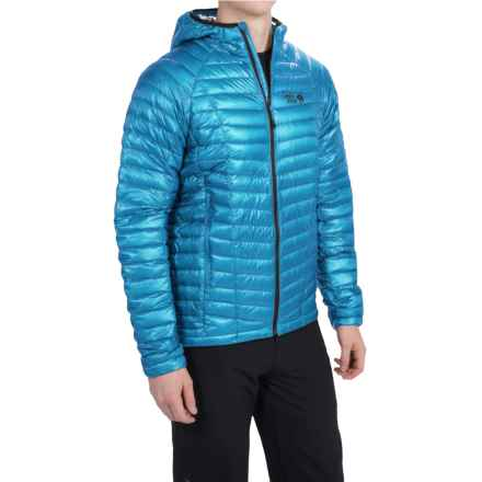 Mountain Hardwear Ghost Whisperer Q.Shield® Down Hooded Jacket - 800 Fill Power (For Men) in Dark Compass - Closeouts
