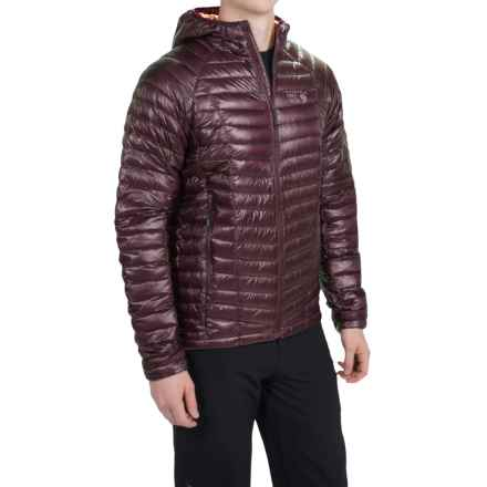 Mountain Hardwear Ghost Whisperer Q.Shield® Down Hooded Jacket - 800 Fill Power (For Men) in Eggplant - Closeouts