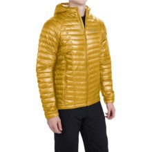 Mountain Hardwear Ghost Whisperer Q.Shield® Down Hooded Jacket - 800 Fill Power (For Men) in Electron Yellow - Closeouts