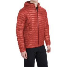 Mountain Hardwear Ghost Whisperer Q.Shield® Down Hooded Jacket - 800 Fill Power (For Men) in Fiery Red - Closeouts