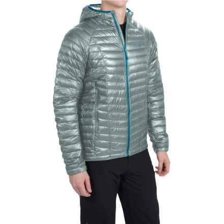 Mountain Hardwear Ghost Whisperer Q.Shield® Down Hooded Jacket - 800 Fill Power (For Men) in Ice Shadow - Closeouts