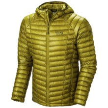Mountain Hardwear Ghost Whisperer Q.Shield® Down Hooded Jacket - 800 Fill Power (For Men) in Python Green - Closeouts