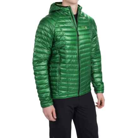 Mountain Hardwear Ghost Whisperer Q.Shield® Down Hooded Jacket - 800 Fill Power (For Men) in Serpent Green - Closeouts