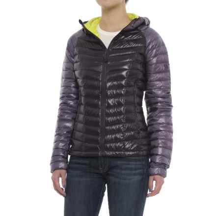 Mountain Hardwear Ghost Whisperer Q.Shield® Down Hooded Jacket - 800 Fill Power (For Women) in Blurple - Closeouts
