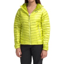 Mountain Hardwear Ghost Whisperer Q.Shield® Down Hooded Jacket - 800 Fill Power (For Women) in Bolt/Mountain - Closeouts