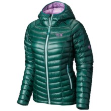 Mountain Hardwear Ghost Whisperer Q.Shield® Down Hooded Jacket - 800 Fill Power (For Women) in Botanical Garden/Phantom Purp - Closeouts