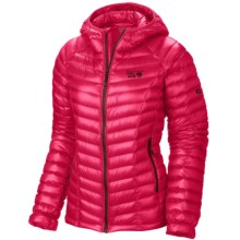 Mountain Hardwear Ghost Whisperer Q.Shield® Down Hooded Jacket - 800 Fill Power (For Women) in Bright Rose - Closeouts