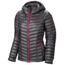 Mountain Hardwear Ghost Whisperer Q.Shield® Down Hooded Jacket - 800 Fill Power (For Women) in Graphite/Bright Rose - Closeouts
