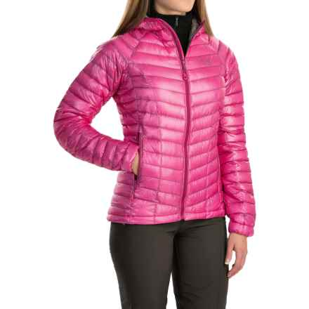 Mountain Hardwear Ghost Whisperer Q.Shield® Down Hooded Jacket - 800 Fill Power (For Women) in Haute Pink - Closeouts
