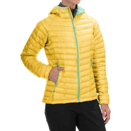 Mountain Hardwear Ghost Whisperer Q.Shield® Down Hooded Jacket - 800 Fill Power (For Women) in Lemon Twist - Closeouts