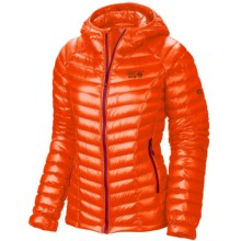 Mountain Hardwear Ghost Whisperer Q.Shield® Down Hooded Jacket - 800 Fill Power (For Women) in Navel Orange - Closeouts