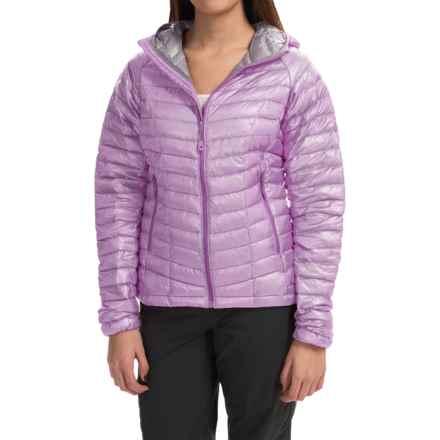 Mountain Hardwear Ghost Whisperer Q.Shield® Down Hooded Jacket - 800 Fill Power (For Women) in Phantom Purple - Closeouts