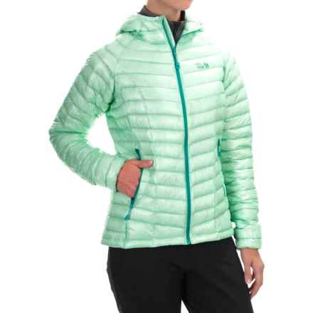 Mountain Hardwear Ghost Whisperer Q.Shield® Down Hooded Jacket - 800 Fill Power (For Women) in Sea Ice - Closeouts