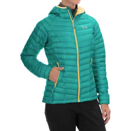 Mountain Hardwear Ghost Whisperer Q.Shield® Down Hooded Jacket - 800 Fill Power (For Women) in Spruce Blue - Closeouts