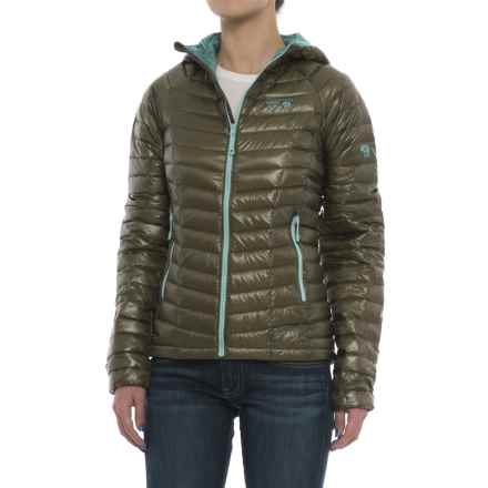 Mountain Hardwear Ghost Whisperer Q.Shield® Down Hooded Jacket - 800 Fill Power (For Women) in Stone Green - Closeouts