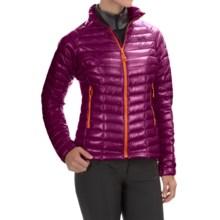 Mountain Hardwear Ghost Whisperer Q.Shield® Down Jacket - 800 Fill Power (For Women) in Dark Raspberry/Navel Orange - Closeouts
