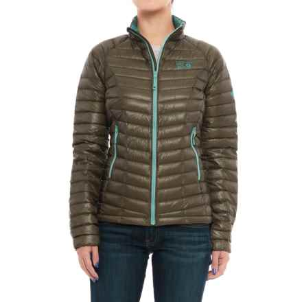 Mountain Hardwear Ghost Whisperer Q.Shield® Down Jacket - 800 Fill Power (For Women) in Stone Green - Closeouts