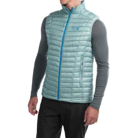 Mountain Hardwear Ghost Whisperer Q.Shield® Down Vest - 800 Fill Power (For Men) in Ice Shadow - Closeouts