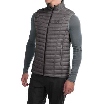 Mountain Hardwear Ghost Whisperer Q.Shield® Down Vest - 800 Fill Power (For Men) in Manta Grey - Closeouts